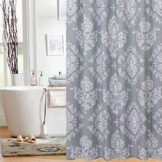 Buy Elegant Grey Gray White French Country Damask Fabric Bathroom Shower Curtain By Opensky