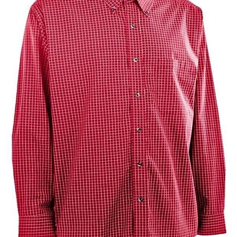 Buy New Plus Size 3xl Red Plaid Calssic Preppy Button Up