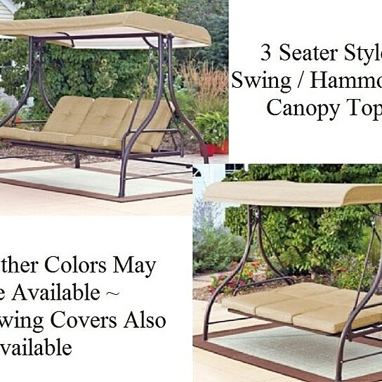Buy Outdoor 3 Triple Seater Hammock Swing Glider Canopy Patio Deck By Opensky Collectibles On