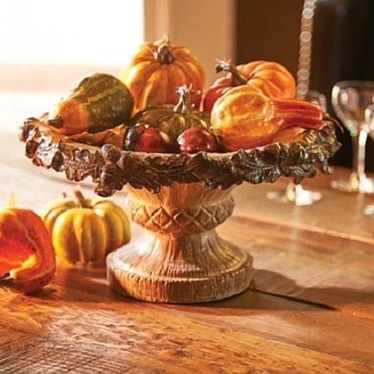 Buy sale 12 acorn decorative serving bowl display fall harvest thanksgiving decor by opensky - Thanksgiving decorations on sale ...