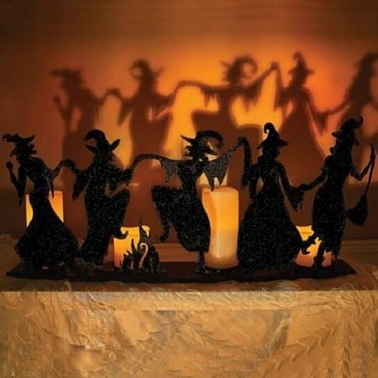 Buy Sale Black Iron Metal Dancing Witch Silhouette Candle Holder Halloween Decor By Opensky