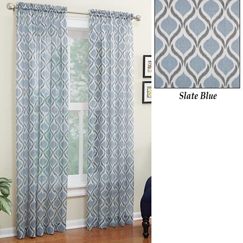 Slate Blue Sheer Curtains 2 Panels Slate Blue Sheer Window Treatments Curtains Drapes Great