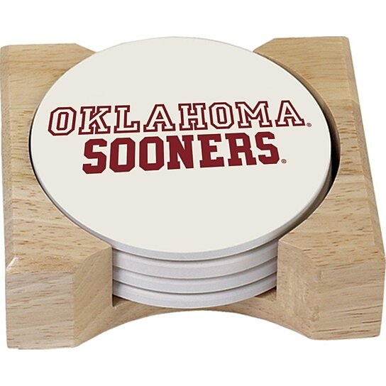 Buy university of oklahoma sooners ncaa absorbent stone coaster coasters set of 4 by opensky - Stone absorbent coasters ...