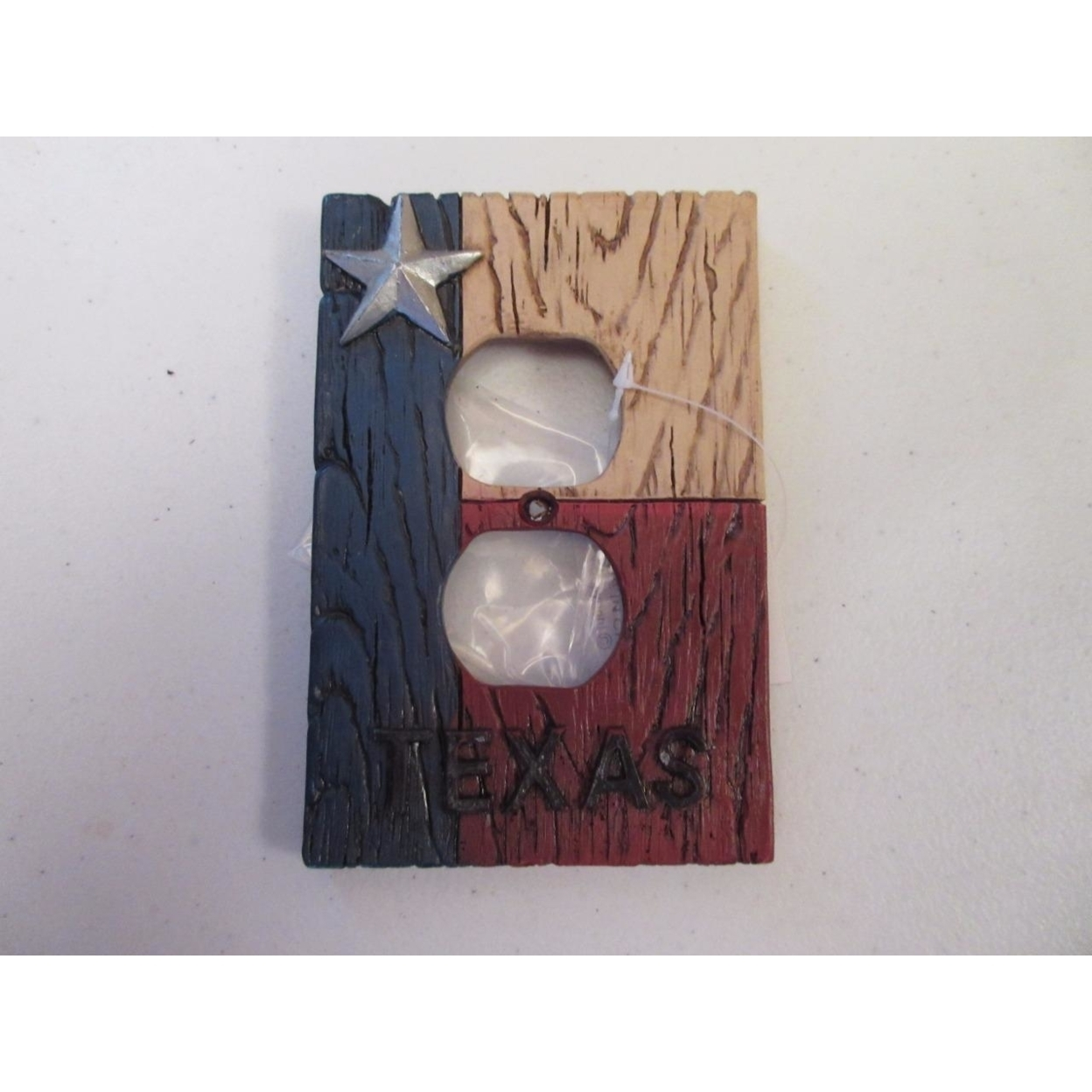 red white blue duplex outlet plate rustic home decor cabin