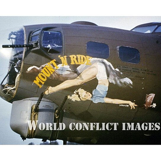 Buy WW2 B 17 Bomber Mount N Ride 8x10 Nose Art Color