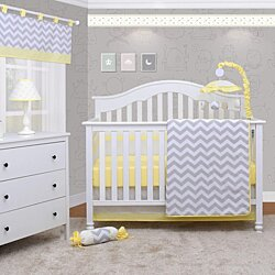 6PCS Chevron Yellow Baby Nursery Crib Bedding Set By OptimaBaby