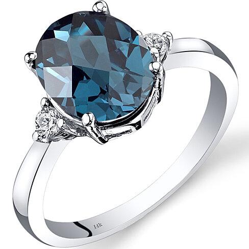 buy 14k white gold blue topaz ring 2 75