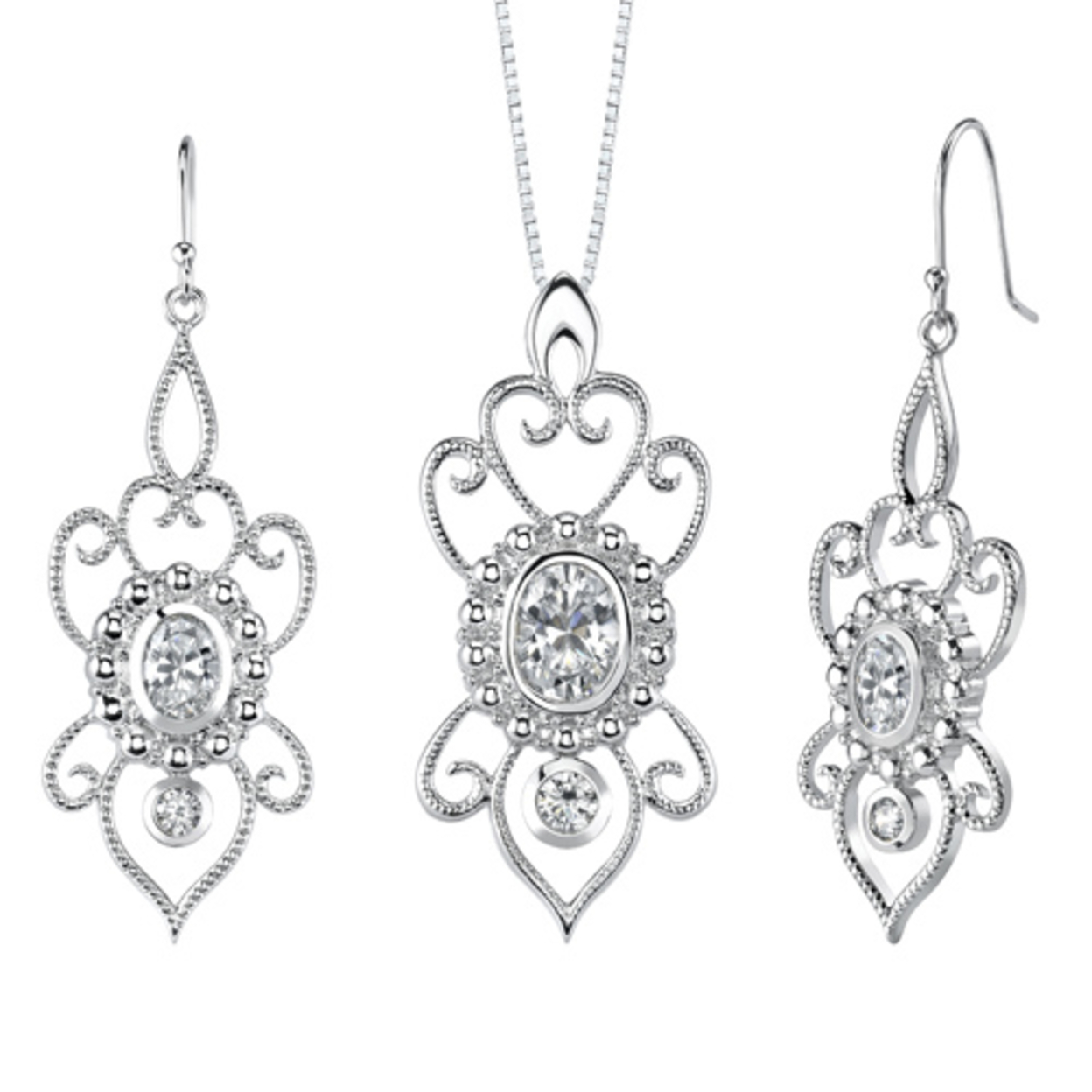 Museum Design 5.25 Carats Marquise Cut Sterling Silver London Blue Topaz Pendant Earrings Set Style Ss3258