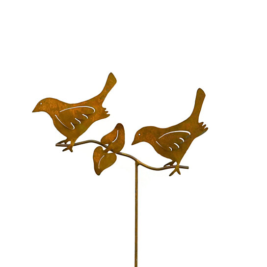 Buy birds on a branch metal yard sculpture stake gs by