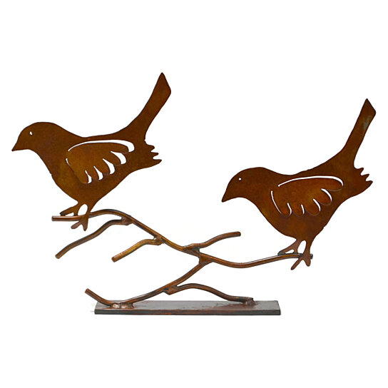 Buy birds on branch metal tabletop sculpture tsc by