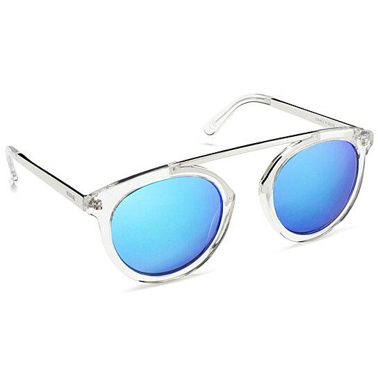 Buy High Bridge Clear Frame Mirrored Lens Blue by Beach Gal on OpenSky