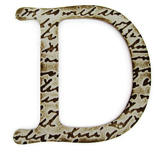 Buy Chipboard Letter D 4 Inch Embossed Letter Initials