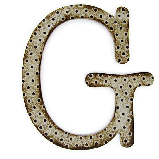 Buy chipboard letter g 4 inch embossed letter initials for Where to buy chipboard letters