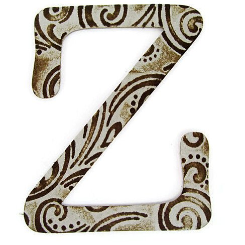 Buy chipboard letter z 4 inch embossed letter baby for Baby letter table for sale
