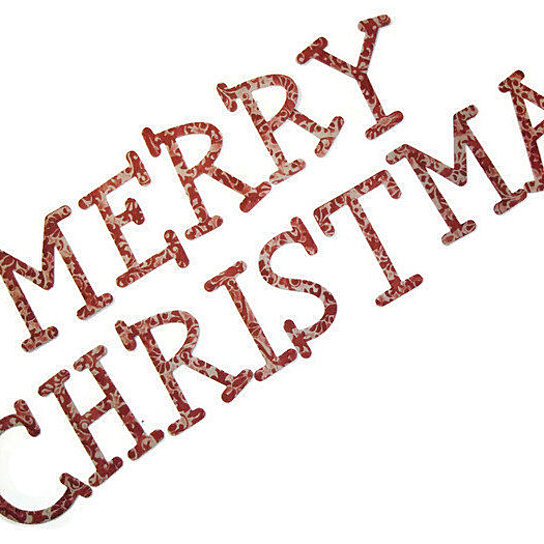 Buy merry christmas chipboard letters 3 inch embossed for Where to buy chipboard letters