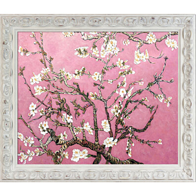 "Branches of an Almond Tree in Blossom, Pearl Pink - Brimfield Cottage White Frame 20"" X 24"""