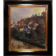 Edgar Degas - Houses at the Foot of a Cliff (Saint-Valery-sur-Somme) (Framed)
