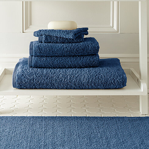 buy cotton towel and bath rug 6 set by