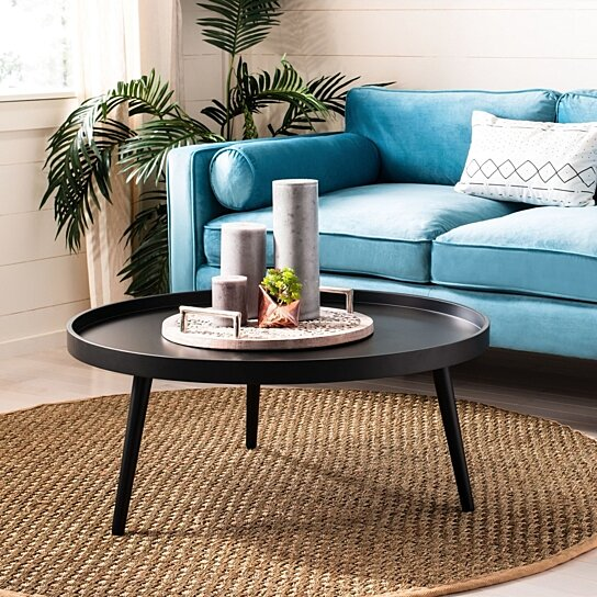 Buy Fritz Round Tray Top Coffee Table Black By Pacific