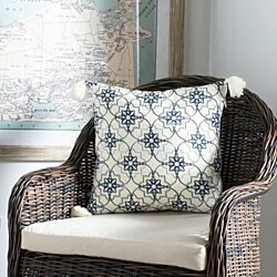 Mariella Pillow White / Blue