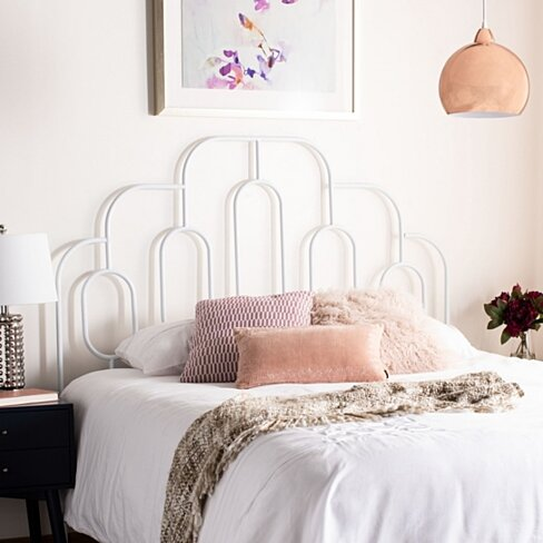 Paloma Metal Retro Headboard White