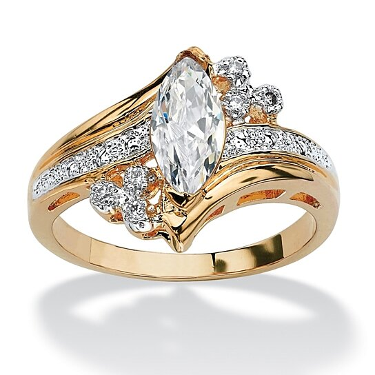 buy 1 03 tcw marquise cut cubic zirconia engagement