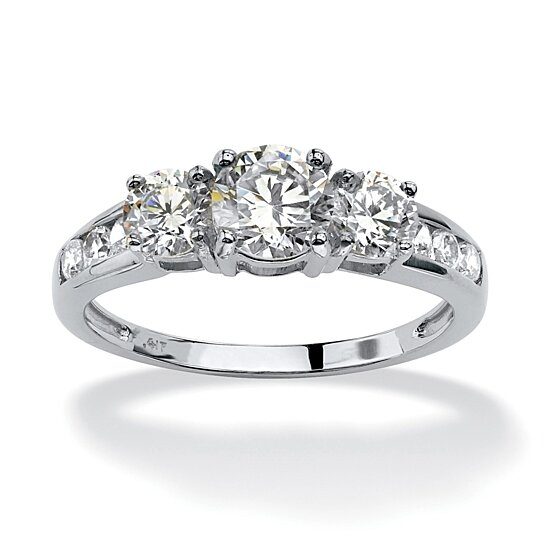 Buy Palm Beach Jewelry Princess-Cut White Cubic Zirconia 14k Gold-Plated 3-Piece Channel Bridal Ring Set and other Bridal Sets at patton-outlet.tk Our wide selection is /5(8).