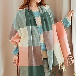 Women's Plaid Scarf Winter Scarves