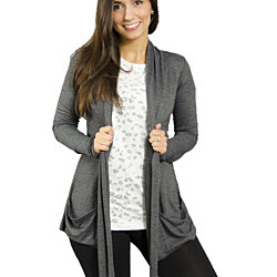 Everyday Classic Draped Cardigan
