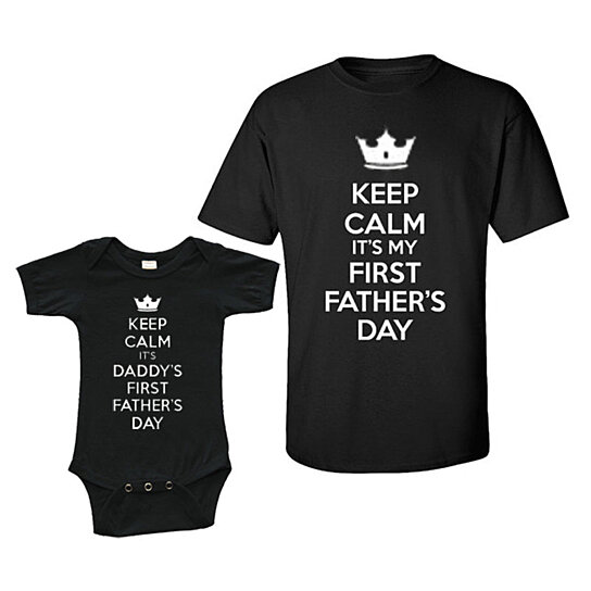 50467849 to cart 42 times in the last 24 hours. Matching Set - Keep Calm First  Father's Day - Short Sleeve Infant Onesie ...