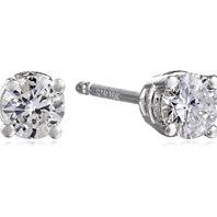 14k Gold Diamond Stud Earrings (1/3 cttw, I-J Color, I1-I2 Clarity)