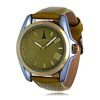 Women Genuine Leather Khaki Yellow Fashion Japanese Quartz