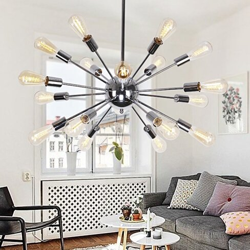 Sputnik 18-Light Chandelier, Chrome
