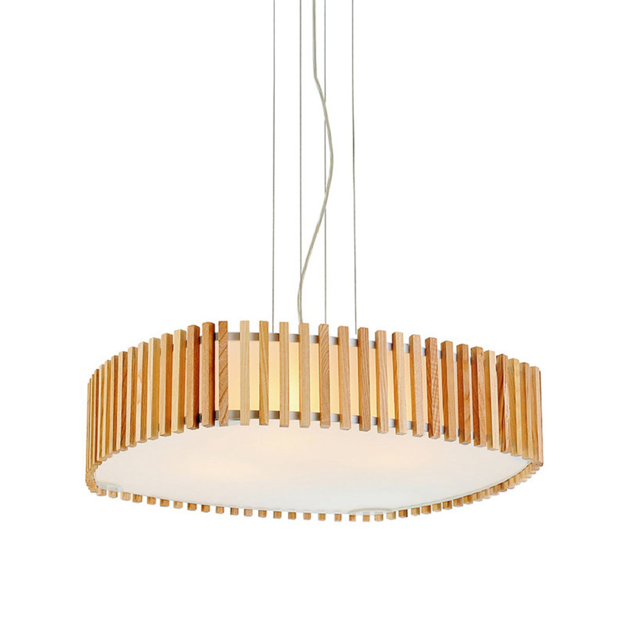 Modern Burlywood Pendant Light with Double Shades