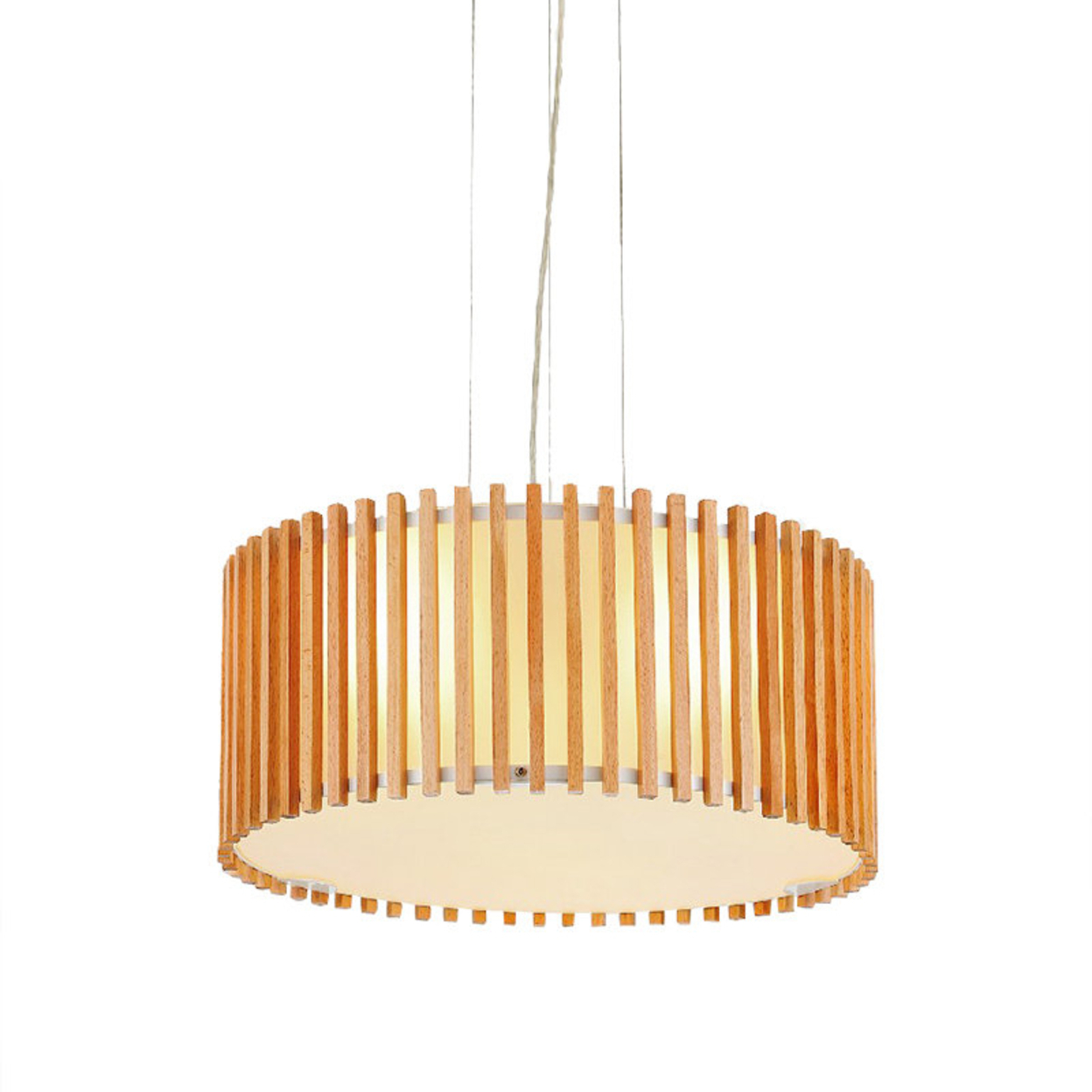 Modern Drum Shape Pendant Light with Double Shades