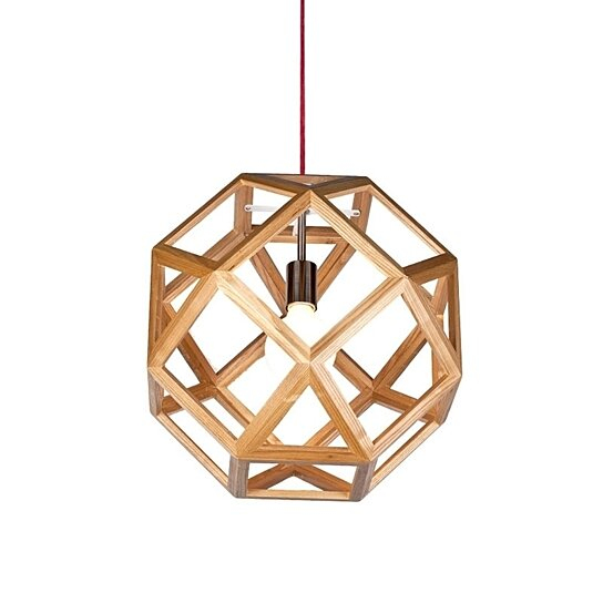Buy Square Geometry Wooden Pendant Light By ParrotUncle On