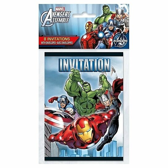 Buy Avengers Assemble Pack Of 8 Invitations By Partytoyz