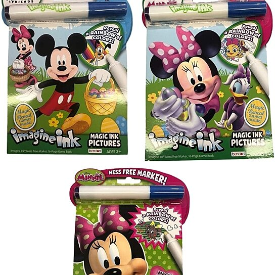 - Buy Imagine Ink Coloring Book Set Minnie Mouse - 3 Magic Ink Books  Featuring 3 Different Minnie Books By Partytoyz Inc. On OpenSky