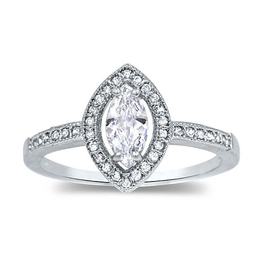 buy marquise cut cz engagement ring marquise solitaire