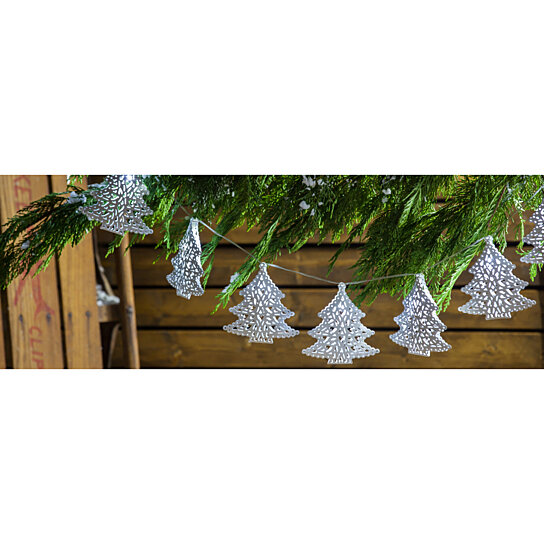 Buy Evergreen Folk Tree Metal Solar Powered String Lights by Pembroke Street International on ...