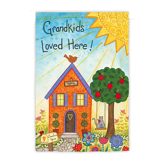 Buy Evergreen Suede Grandkids Loved Here Garden Flag 12 5