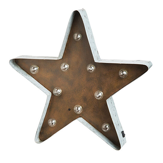 Vintage Star Wall Decor : Buy large led star vintage metal wall decor by pembroke