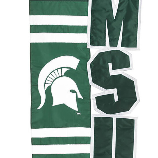 Buy Michigan State Spartans Applique House Flag By