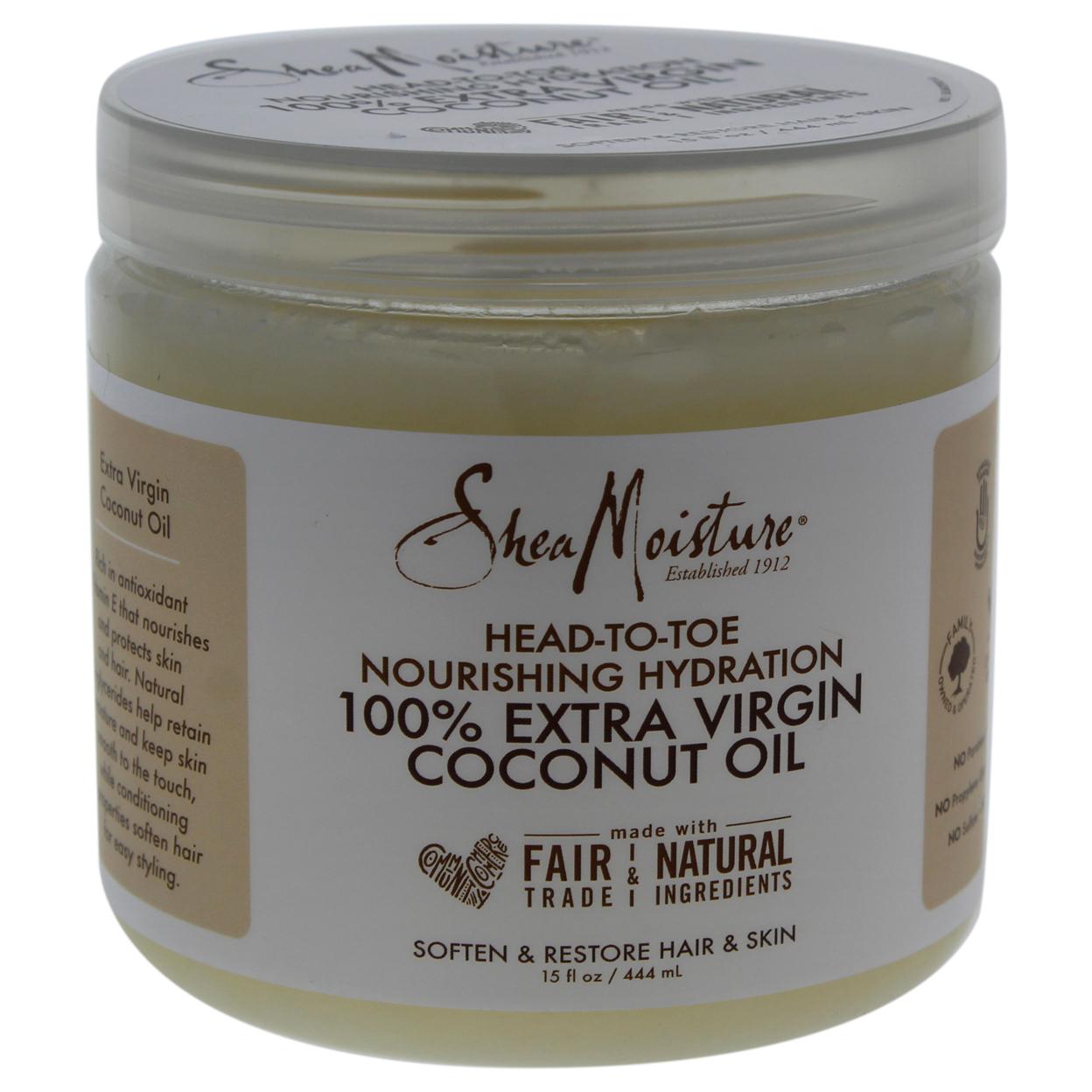 100% Extra Virgin Coconut Oil Head To Toe Nourishing Hydration By Shea Moisture For Unisex 15 Oz Oil