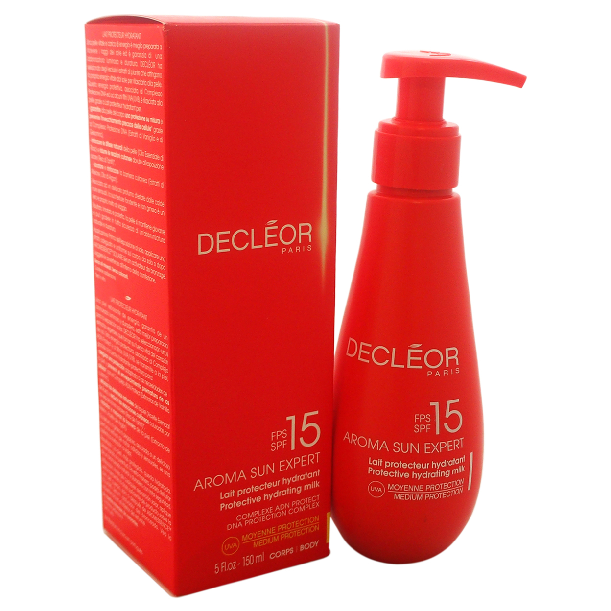 Aroma Sun Expert Protective Hydrating Milk SPF 15 by Decleor for Unisex - 5 oz Body Milk 583c6c36e2246159f167dcc2
