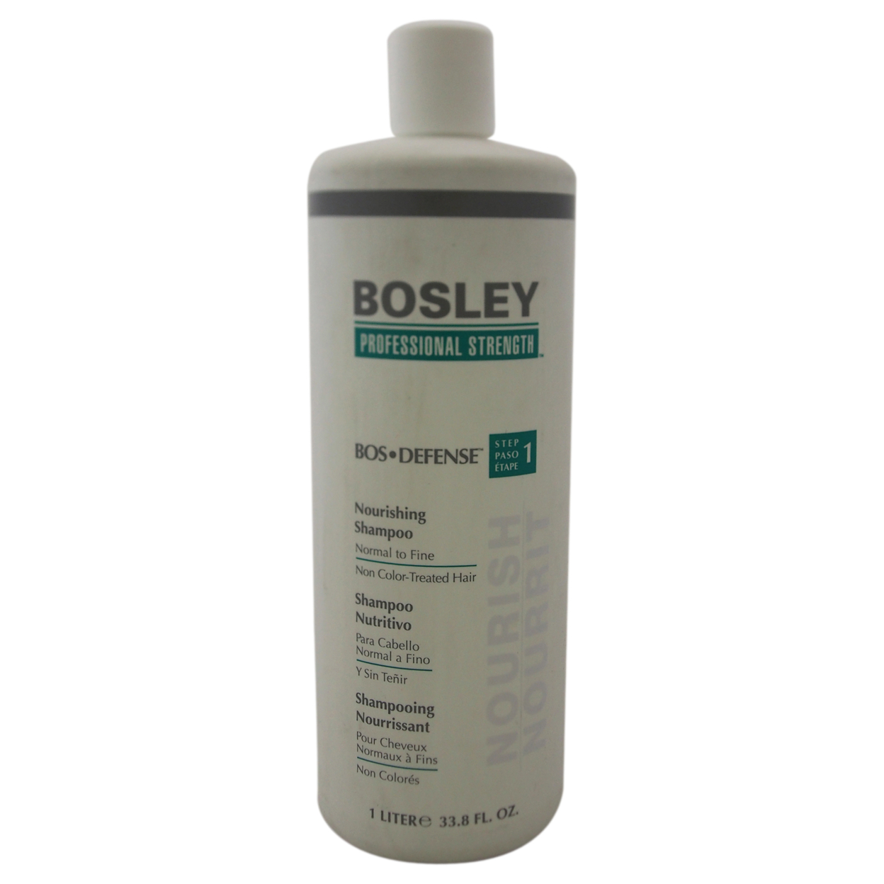 Bos-Defense Nourishing Shampoo for Normal To Fine Non Color-Treated Hair by Bosley for Unisex - 33.8 oz Shampoo 583c6c19e2246159f25a4119