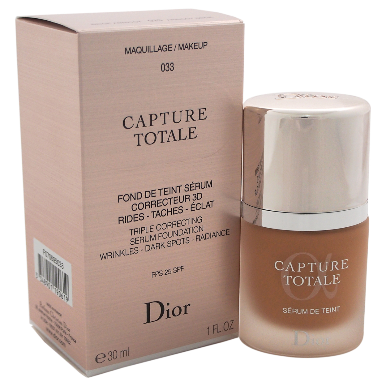 Capture Totale Triple Correcting Serum Foundation SPF 25 - # 033 Apricot Beige by Christian Dior for Women - 1 oz Foundation 58c5a9be2a00e43342572b22