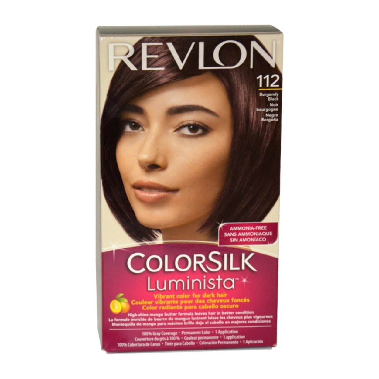 colorsilk Luminista #112 Burgundy Black by Revlon for Women - 1 Application Hair Color 58653c97e2246122da1bbdda