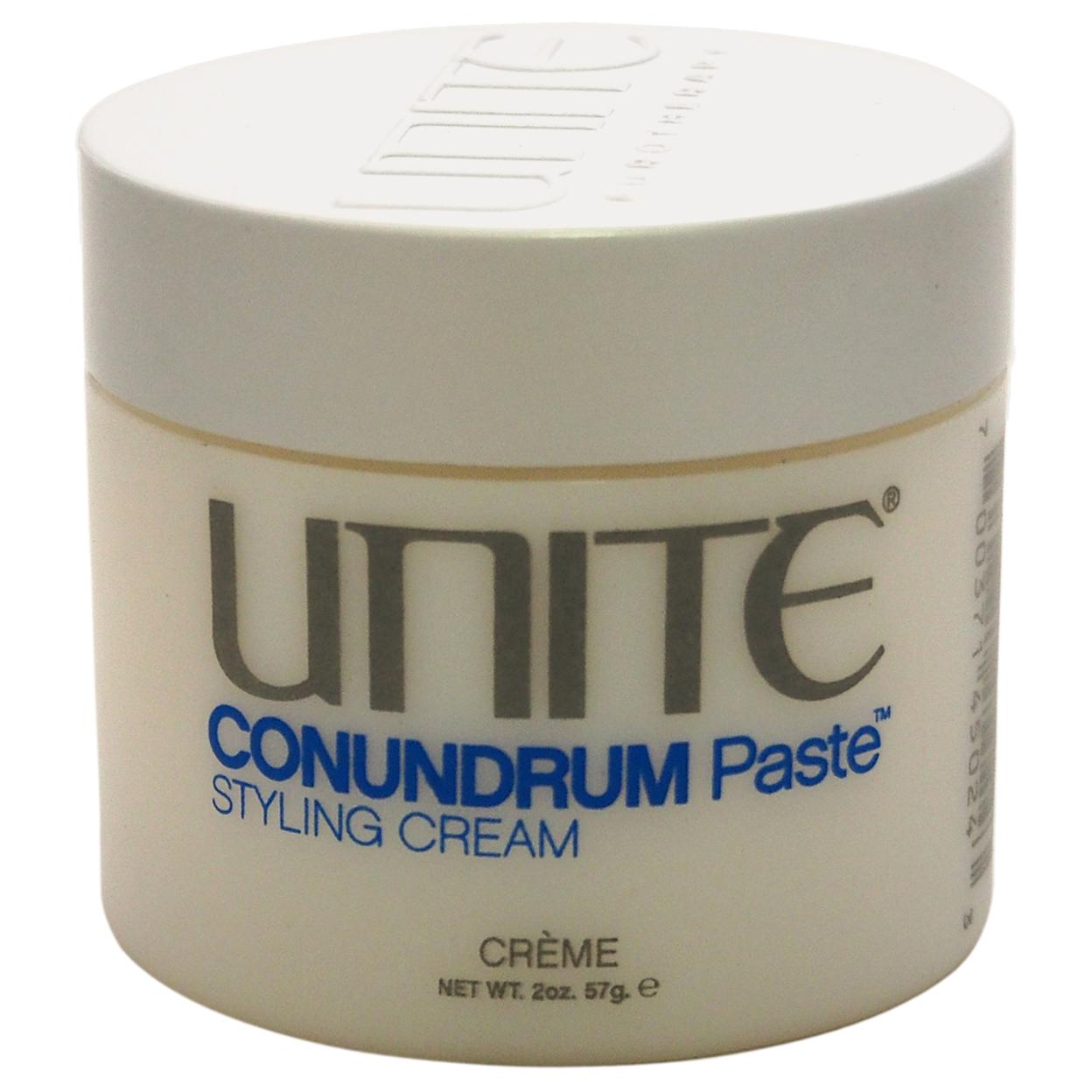 Conundrum Paste Styling Cream By Unite For Unisex 2 Oz Cream