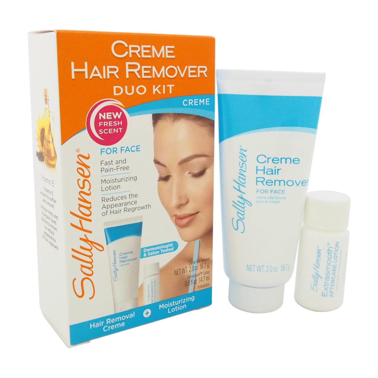 Creme Hair Remover Kit for Face by Sally Hansen for Women - 1 Pack Hair remover 5898e1d0c98fc45091093dd7